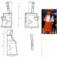 Moda para niñas 3-6 años Kids Dress Patterns, Kids Clothes Patterns, Sewing Kids Clothes, Sewing Patterns For Kids, Sewing For Kids, Baby Sewing, Baby Patterns, Clothing Patterns, Fashion Sewing