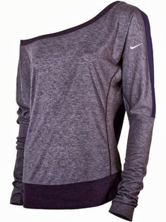 One shoulder nike sleeve fall shirt fashion. Buy me nike everything, that's fine Workout Attire, Workout Wear, Workout Style, Nike Workout, Workout Outfits, Looks Style, Style Me, Nike Free Run, Athletic Outfits