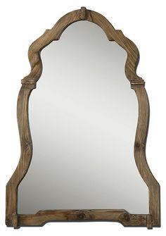 Ansel Wall Mirror, Walnut   Brilliant Reflections   One Kings Lane