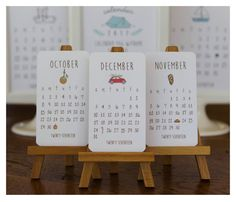***This is the 8th edition to this darling Mini Doodle Calendar*** This listing includes: 1-Mini Doodle 12 month calendar Each month measures 2x3.5. (This listing does not include the mini wooden easel)   This calendar is printed on 130lb heavy weight creamy white letterpress paper and we add just the right amount of glitter.