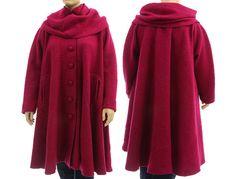 Artsy boho flared coat fall winter coat separate von classydress