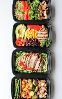 Easy Chicken Meal Prep Bowls: 5 Ways - this is a quick and easy way to have heal. - Easy Chicken Meal Prep Bowls: 5 Ways - this is a quick and easy way to have heal. Easy Chicken Meal Prep Bowls: 5 Ways - this is a quick and easy wa. Healthy Dinner Recipes, Healthy Snacks, Healthy Eating, Keto Recipes, Fast Recipes, Stay Healthy, Paleo Dinner, Cooking Recipes, Healthy Food Prep