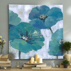 Flores Geranios Azules - Cuadros Decorativos Al Óleo