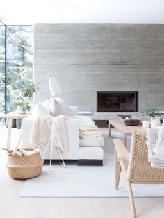 Whistler House by SBD & Burgers Architecture.Like look for front family room,not the fireplace so much. Decoration Bedroom, Decoration Design, Living Room Designs, Living Room Decor, Living Spaces, Living Rooms, Design Furniture, Plywood Furniture, Furniture Removal
