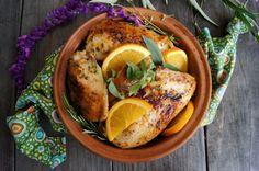 what to do with all the oranges: Orange Herbs de Provence chicken- I've made this tonight and oh my goodness, so delish!!! AND it smells like Holiday in here :) Win Win!