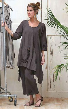 Lee Andersen USA Cotton Gauze Summer Rosette Pant Crop Capri Pants 1x Black | eBay
