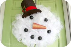 snowman tulle wreath - Google Search