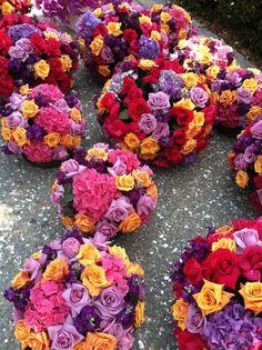 Flower balls for a festive party! Joe Ruggiero