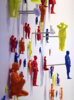 3D printed figurines.