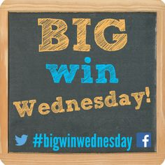 Ever get tired of only sharing your struggles? Let's start sharing our victories, too! #bigwinwednesday