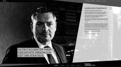 Website for FRANK HANNIG, lawyer, www.hannig-rechtsanwaelte.de | design by Monique Mardus, photography by Christian Lorenz