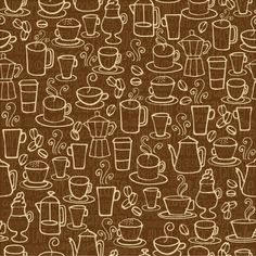 Drinks & beverages - coffee tea beer wine by Ohn Mar Win, via Behance