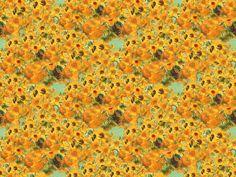 Bright Yellow Sunflowers by Van Gogh fabric by bohobear on Spoonflower - custom fabric