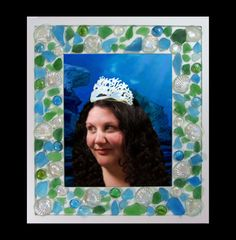 Mermaid Sea glass Picture Photo Frame 8x10 or 5x7. by InArtStudio2, $74.99