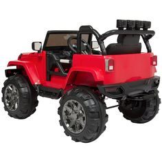 Best Choice Products Ride On Car Truck w/ Remote Control, 3 Speeds, Spring Suspension, LED Light - Red Best Scooter For Kids, Kids Scooter, Kids Power Wheels, Best Electric Scooter, Hobby Toys, Ride On Toys, Outdoor Power Equipment, Jeep, Remote