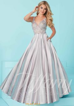 Tiffany Satin A Line Dress 16208