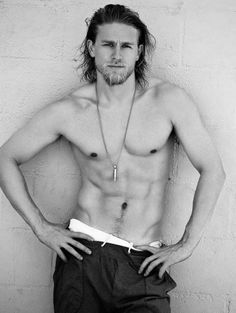 Jax Teller/Charlie Hunnam from Sons of Anarchy. So manly...♥ gotta love me a bad guy