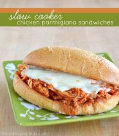 Step by Step Slow Cooker Pulled Chicken Parmigiana Sandwiches Recipe