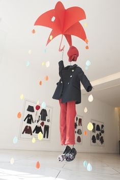 Outwear for rainy days //Tournon Boutique in Paris #visualmerchandising #retaildisplay