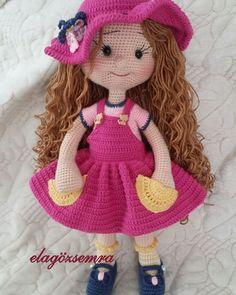 JULIA Crochet Toy / Amigurumi Doll - Crochet Doll for Daughter, Gift for Children, Gift for Baby, Gi - Salvabrani - Salvabrani Crochet Amigurumi Free Patterns, Crochet Doll Pattern, Crochet Dolls, Amigurumi Tutorial, Amigurumi Giraffe, Amigurumi Doll, Cute Crochet, Crochet Baby, Crochet Disney