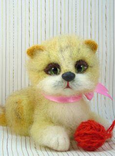 """Шерстяная игрушка кошечка Маркиза. :: """"Игра в войлок"""""""