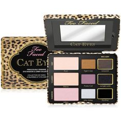 Too Faced Cat Eyes Ferociously Feminine Eye Shadow & Liner Collection featuring polyvore beauty products makeup eye makeup eyeshadow no color palette eyeshadow too faced cosmetics