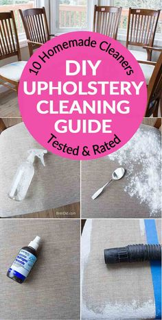 Battle for the Best Upholstery Cleaner: 10 Cleaners Tested Do you need to clean your house or car upholstery? I tested 10 homemade upholstery cleaner…