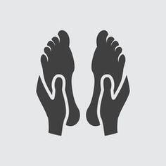 Foot massage icon illustration