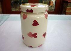 Emma Bridgewater Pink Hearts Large Jam Jar Filled