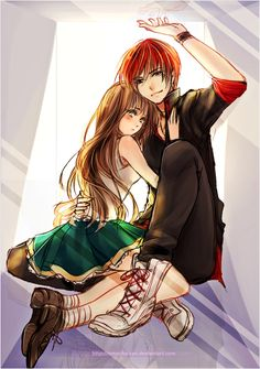 So cute!! Anime couples can be so adorable