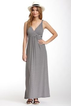 Papillon Striped Maxi Dress by Papillon on @HauteLook Cute cross-over front and twisted straps