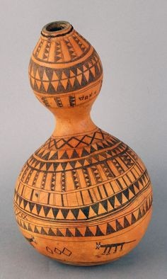Africa   Water vessel possibly from the Kitoki people of Ushasi, Mara, Tanzania or from the Lake Victoria region   Gourd, glass beads and copper wire   ca. 1934 or earlier