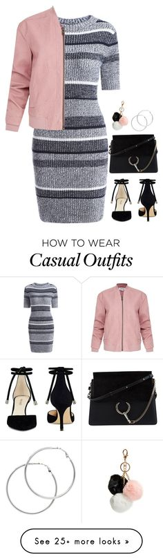 """""""Smart Casual"""" by km-r7 on Polyvore featuring Chloé, Nine West, Melissa Odabash, GUESS and Helmut Lang"""