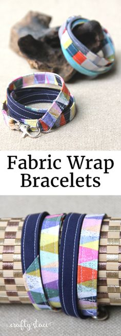 Fabric Wrap Bracelet Tutorial from Crafty Staci #giftstosew #sewingforbeginners #diybracelet
