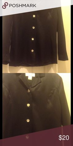 Silk top Fully lined button silk top, run large could a medium or size 6 Tops Button Down Shirts
