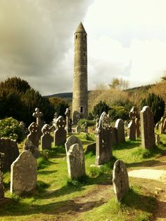 Ireland. The round tower at Glendalough, Co. Wicklow, was a refuge from Viking raids of the 9th and 10th centuries.