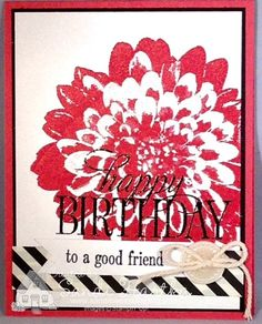 Definitely Dahlias, Stampin'up!, birthday card, thinking of you card, thank you card