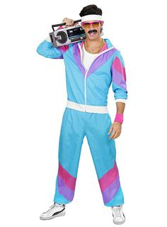 Jogging Suit Men Costume as carnival costume 80s Costume, Costume Sports, 80s Workout Costume, 80s Fashion, Cute Fashion, 80s Workout Clothes, 1980s Fancy Dress, Look 80s, Style Année 90