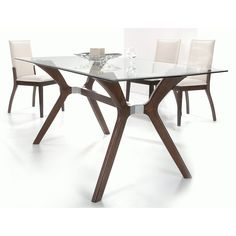 Chintaly Luisa 5 Piece Rectangular Dining Table Set | from hayneedle.com