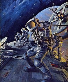DARRELL K. SWEET - art for Space Cadet by Robert A. Heinlein - 1978 Del Rey / Ballantine Books