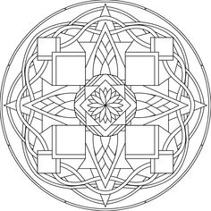 Another Spyderhouse mandala design: I love the curvy celtic edge with the sharper edges inside the shapes