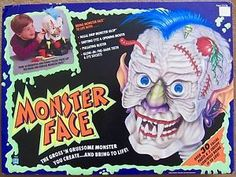 MONSTER FACE. VINTAGE TOY. HASBRO. 1991.