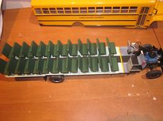 By:Jeff Duranso - 1/25 scale 1985 Ford B700 72 passenger School Bus.