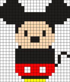 Mickey Mouse Perler Bead Pattern / Bead Sprite