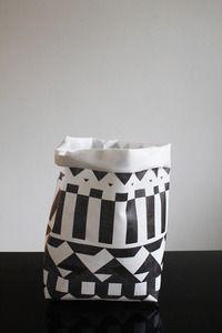 Sack  Made of printed PVC-laminated white polyester scrim