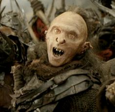 LOTR 30 Day Challenge~ Day 6~ Ugliest Orc: THIS DUDE. I don't know what his name is, but every time I'm trying to watch the movie, HE shows up. ugh.