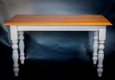 Stunning solid handmade and hand finished Iroko dinning table, with reclaimed timber - paleamber