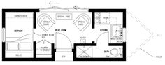 tiny house floorplan: The Popomo, by Tumbleweed Tiny House Company Tiny House Company, Shed To Tiny House, Small Tiny House, Tiny House Cabin, Tiny House Plans, Tiny House Design, House Floor Plans, Small Cottages, Small Cabins