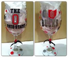 Ohio State University Wine Glass..can be by CreateBeautywithLove, $20.00