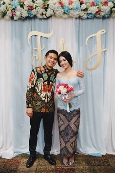 Wedding backdrop blue backgrounds 31 Ideas for 2019 Kebaya Lace, Kebaya Dress, Kebaya Brokat, Kebaya Hijab, Rustic Wedding Backdrops, Wedding Reception Backdrop, Pink Wedding Shoes, Wedding Blue, Trendy Wedding